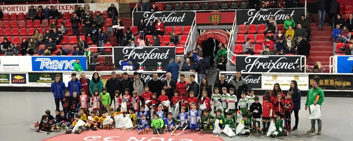 Participants primer torneig SMP solidari hoquei patins